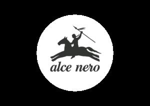 Logo Alce Nero su sfondo colorato
